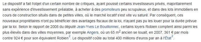 Résumé de Robien Wikipédia